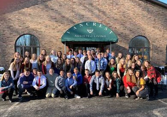 The 8th Grade Choir sang at Van Wert manor and Van Crest on December 18,2019.