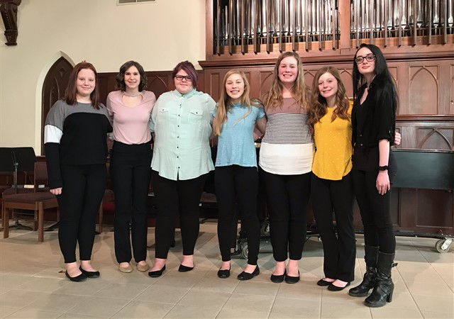 Lincolnview Choir students performed at the Young Artists Recital on March 8, 2020.